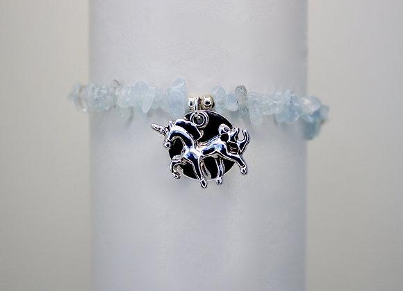 Mirror, Mirror Aquamarine Stretch Bracelet