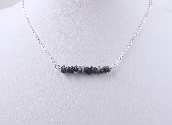 Raw Sapphire Bar Necklace