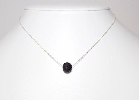 Minimalist Floating Round Lava Necklace