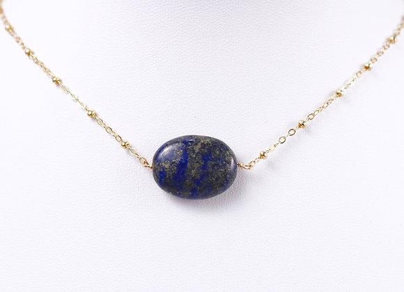 Heaven Come Necklace (14kt GF Lapis Lazuli)