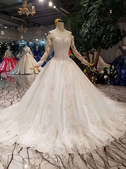 Corset wedding gowns new fashion design off shoulder