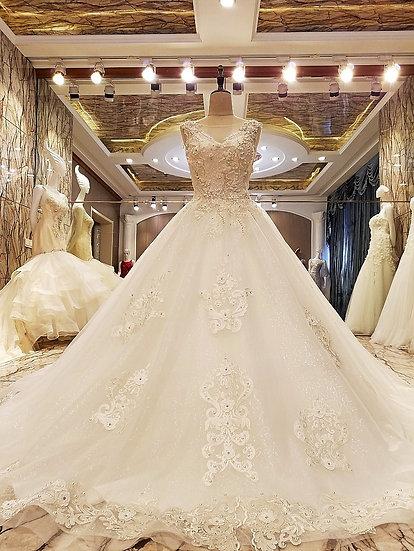 Robe de mariage lace up back