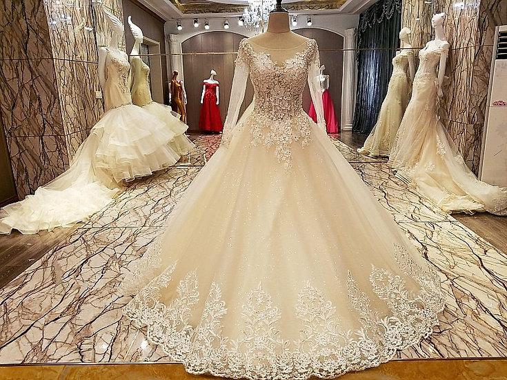 Long sleeve robe de mariage