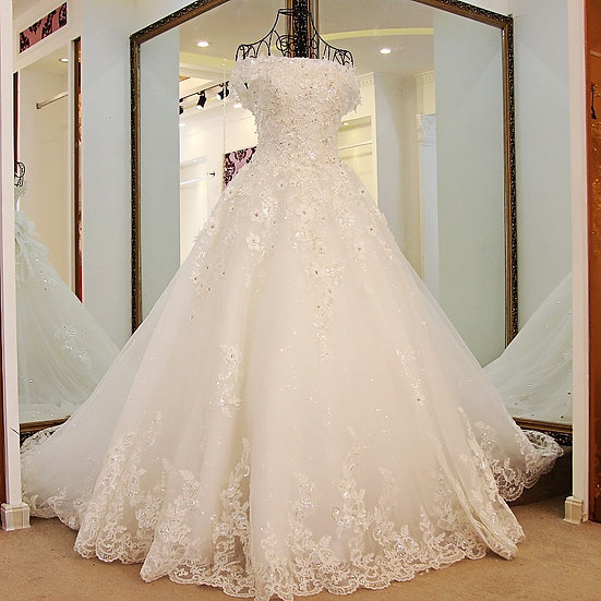 Princess Wedding Gowns Sweep Train