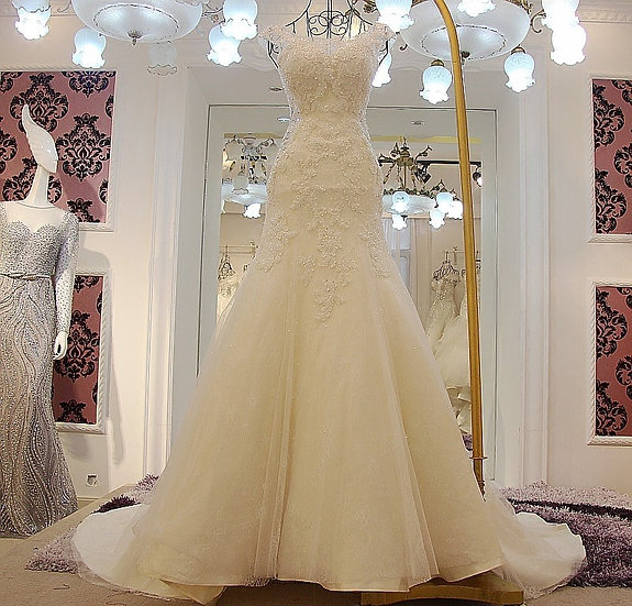 Robe De Mariage lace wedding dress