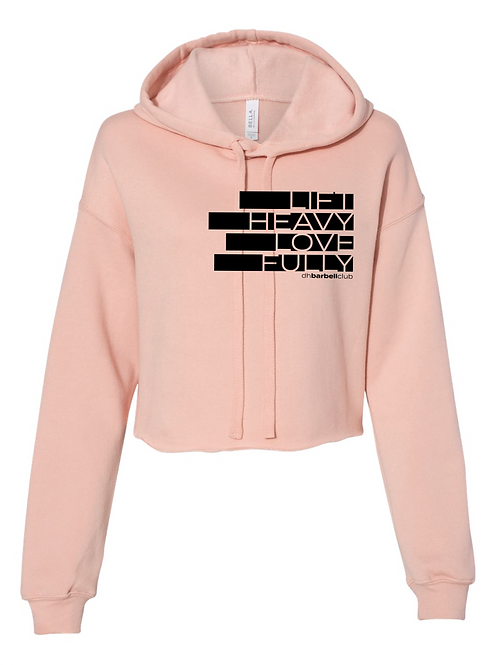 Lift Heavy Love Fully Women's Cropped Fleece Hoodie