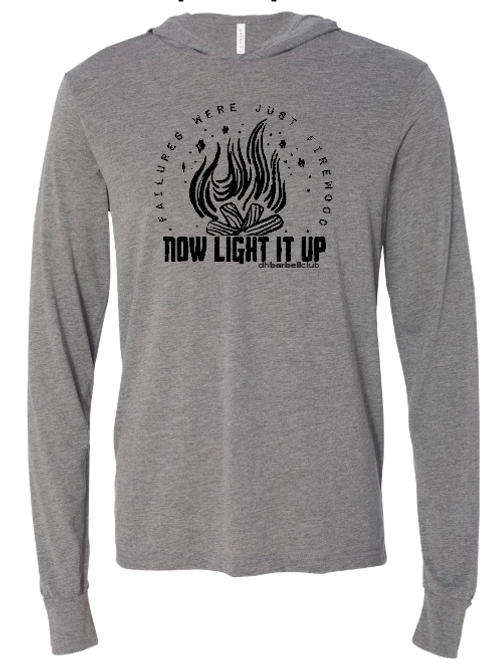 Now Light It Up Hooded Long Sleeve T-shirt