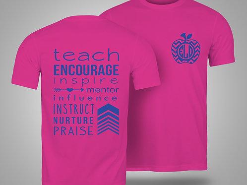 Teacher Custom Monogram T-shirt