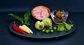 Zutaten für grünen Thai Curry