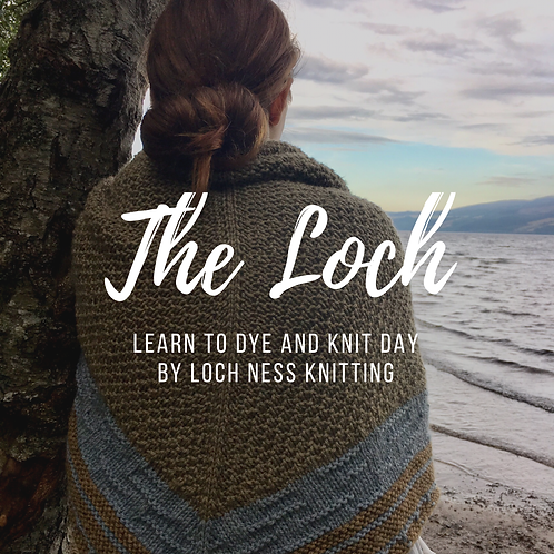 Learn to dye and knit shawl day