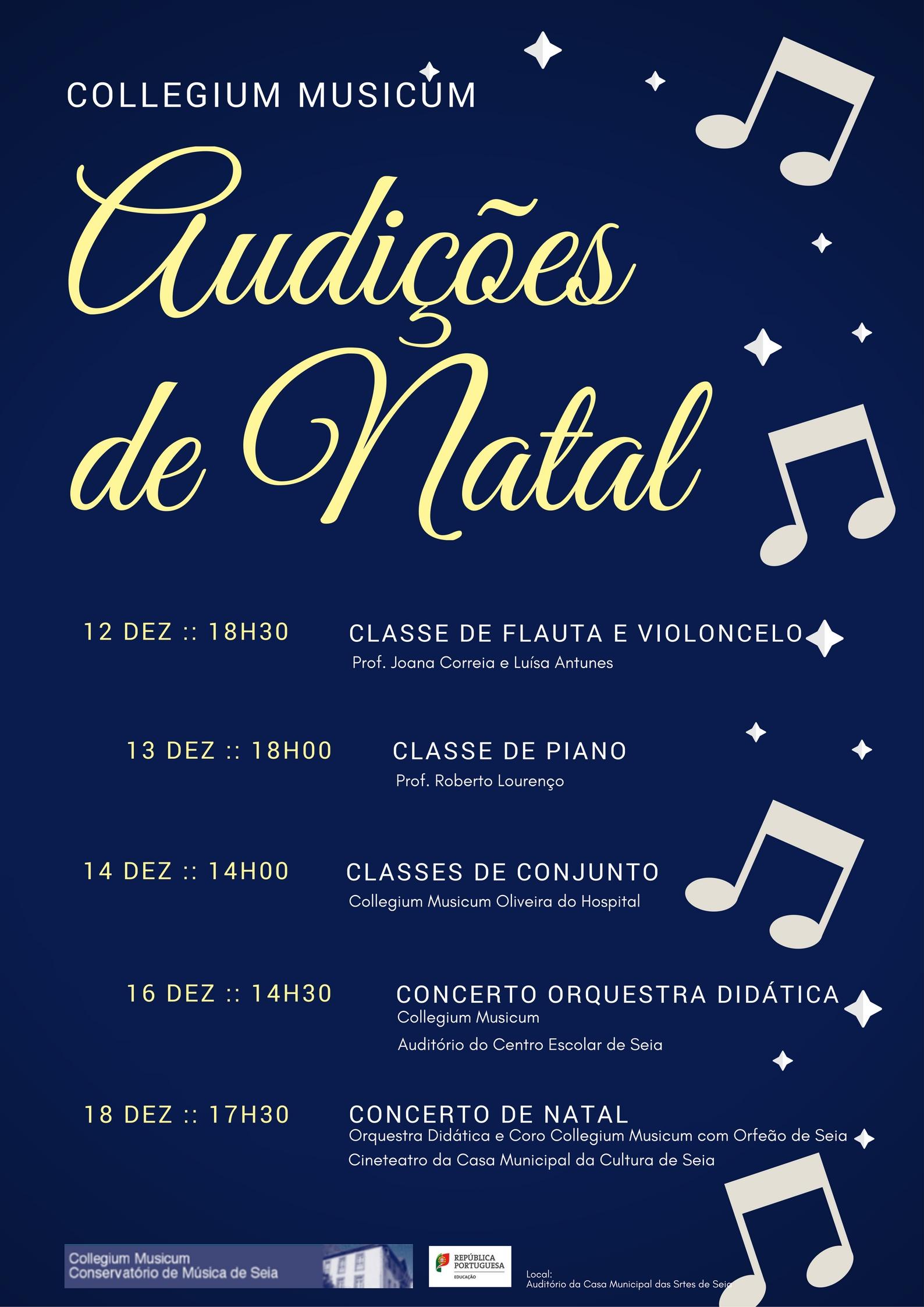 Audições e Concertos de Natal