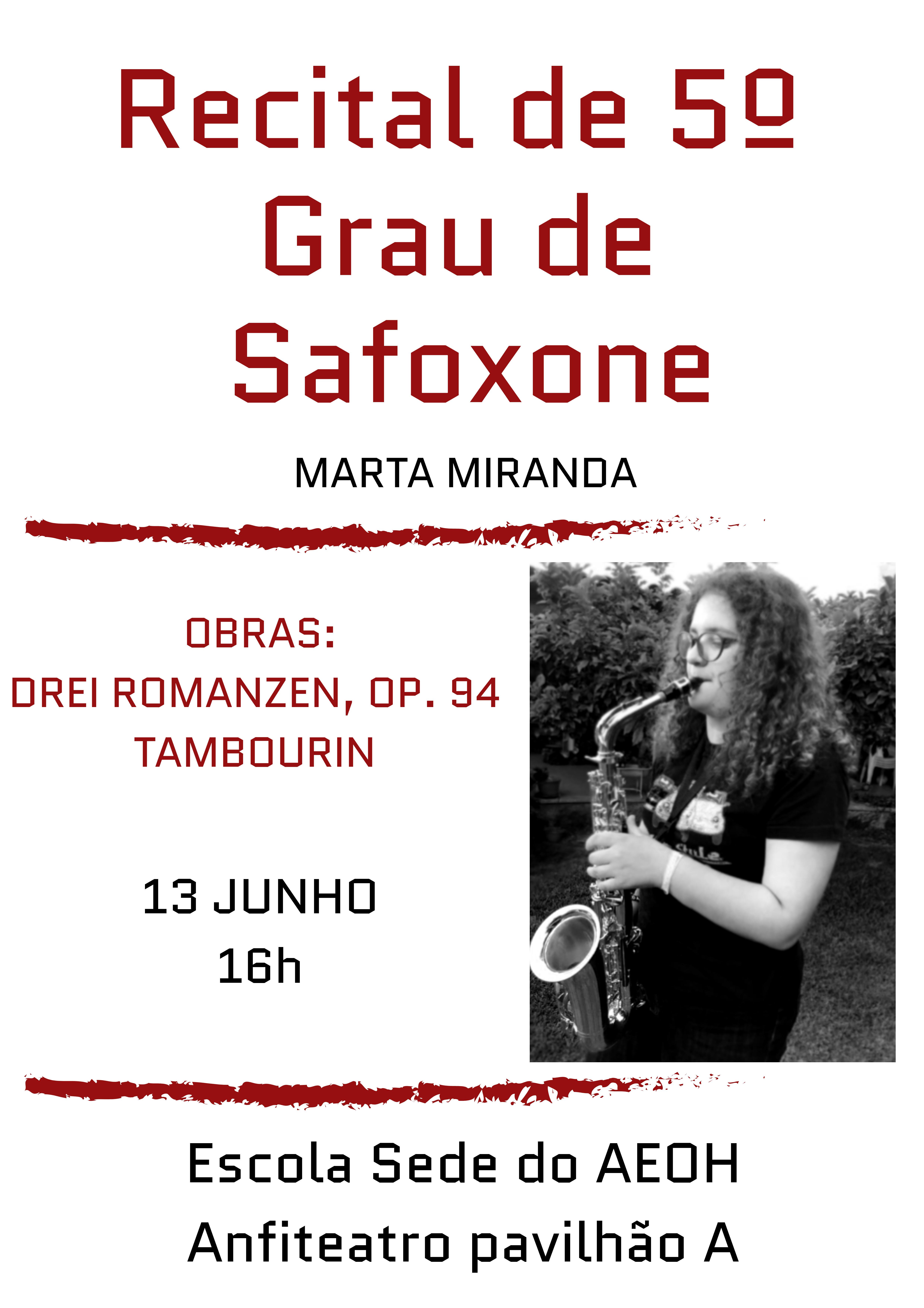Recital 5º Grau Saxofone