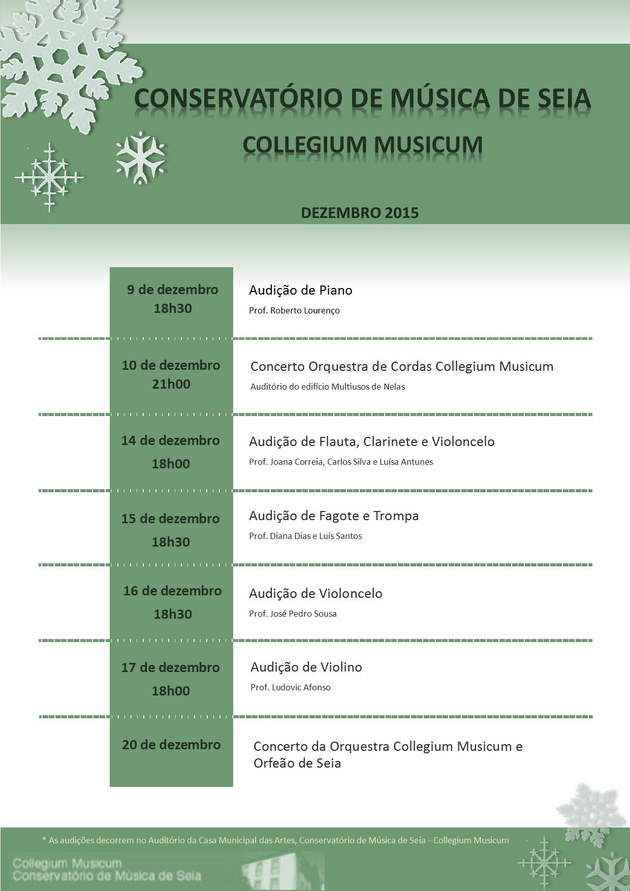 Agenda de Dezembro 2015