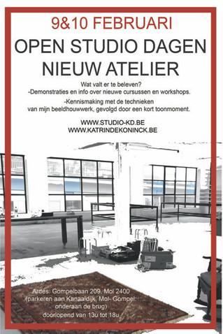 Ontdek het nieuw atelier van Katrin Dekoninck in Mol