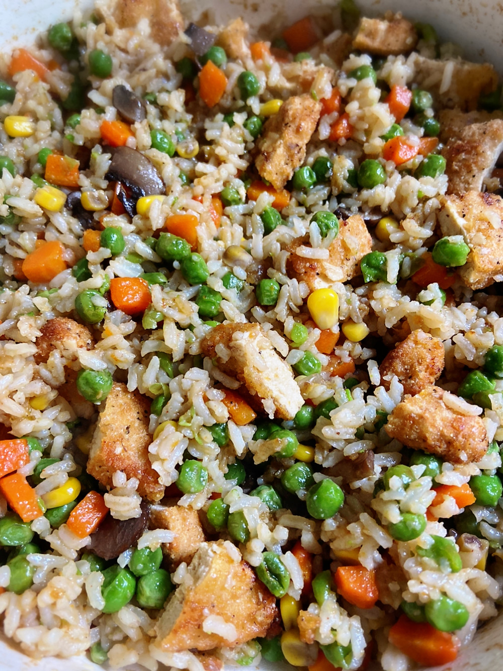 fried rice, vegan fried rice, vegan fried rice recipe, vegan food, vegan foodie, vegan food blog