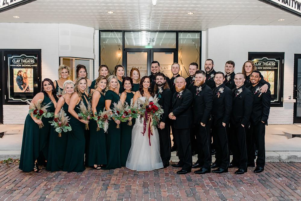Clay Theatre, Clay Theatre wedding, Jacksonville wedding, Green Cove wedding, Jacksonville bride, bridal party, bridal party goals, Jacksonville wedding venue