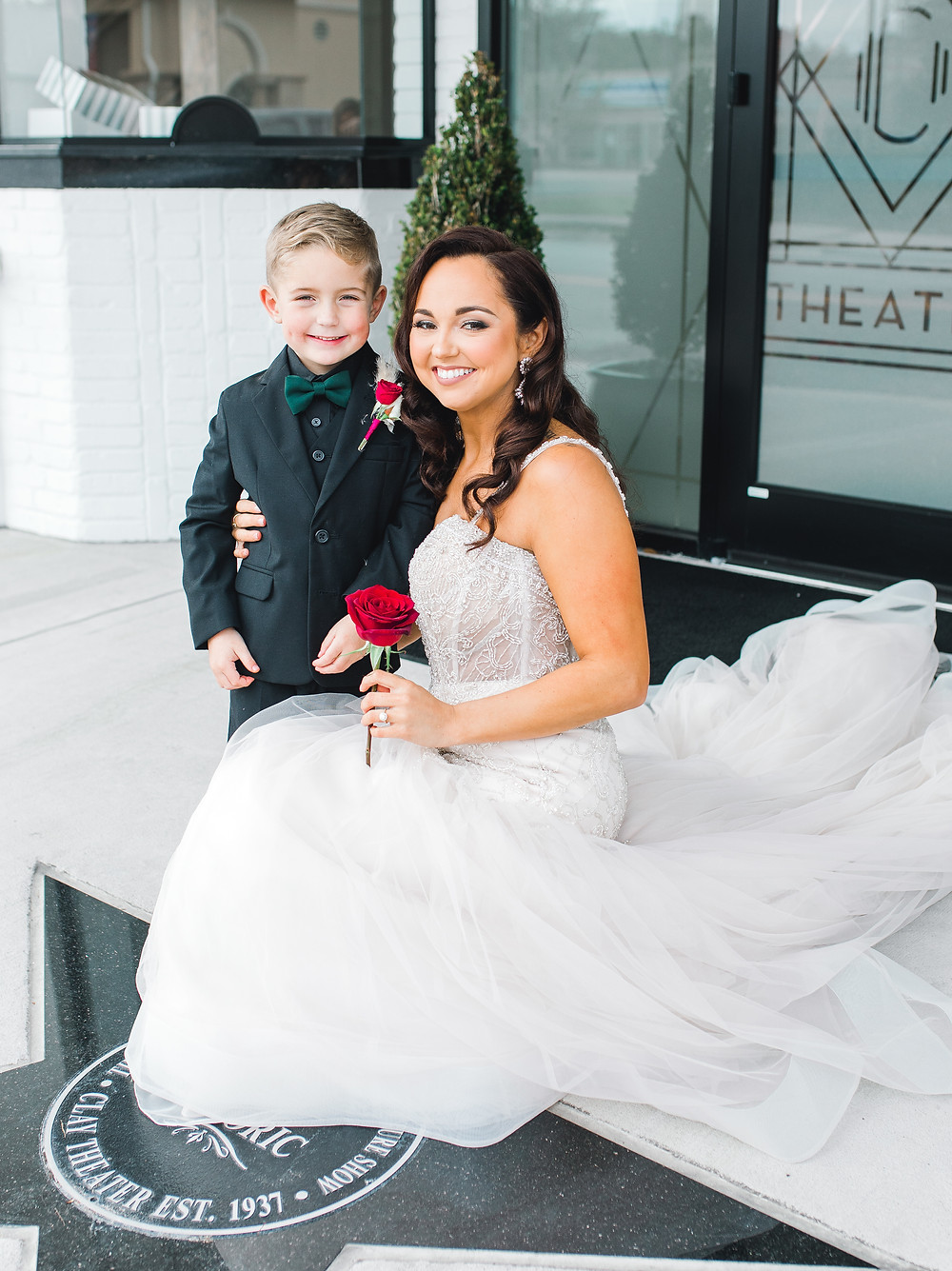 Clay Theatre, Clay Theatre wedding, first look, bride and son, ring bearer