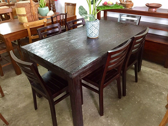 Rustic Teak Dining Set