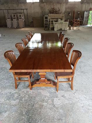 Long Teak Diner Set