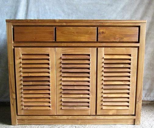 Minimalist Shoe Cabinet 3 Doors 3 Drawers