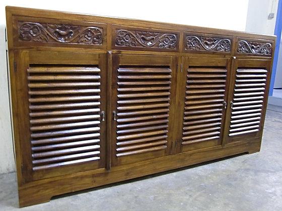 Carved Shoe Cabinet