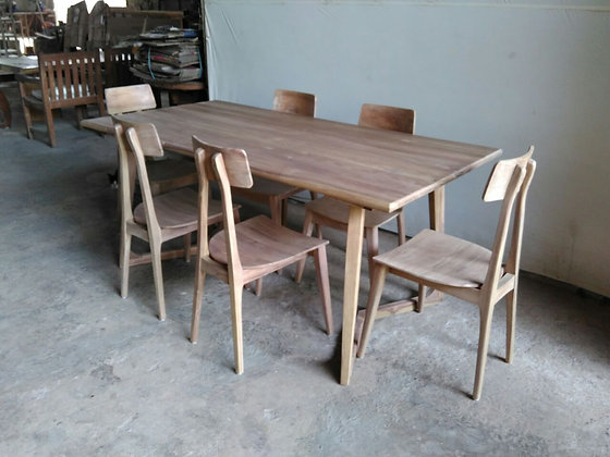 V Shaped Modern Dining Set