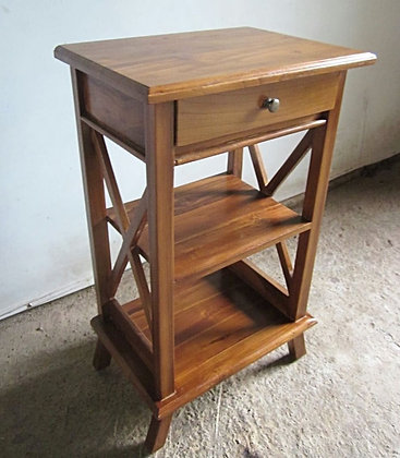 Cross Side Table 1Drawer