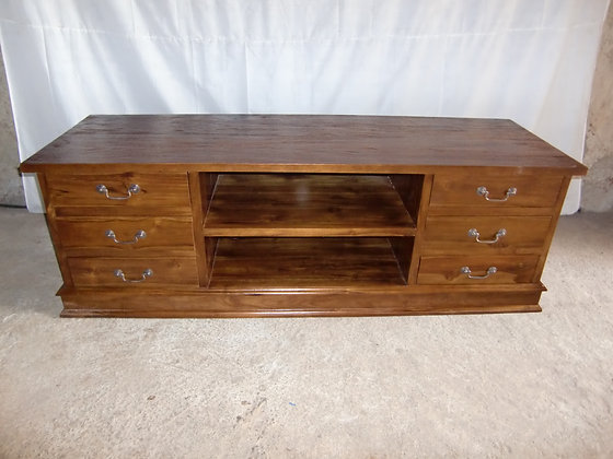 TV Stand 6 Drawers 1 Center Rack