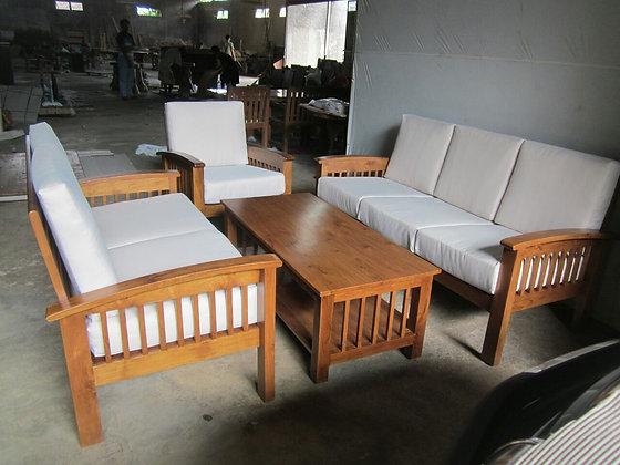 Simple Teak Sofa Set