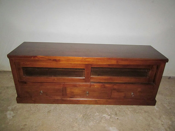 TV Console 3 Drawer 2 Sliding Doors