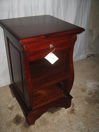 Slim Curved Bedside Table