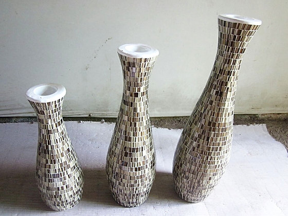 Brown Mosaic Vase