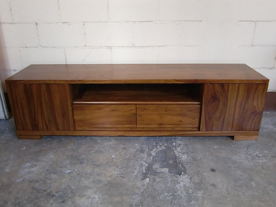 Straight Cut TV Console No Handles