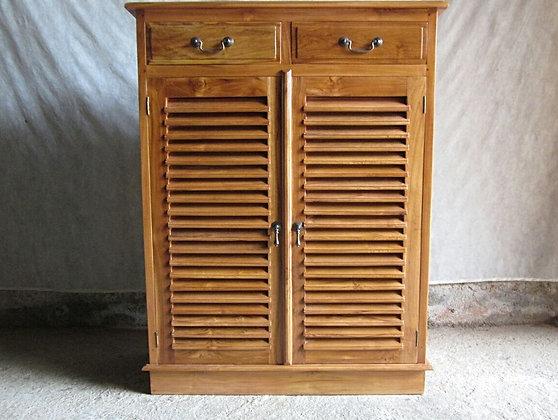Classic Shoe Cabinet 2 Doors 2 Drawers