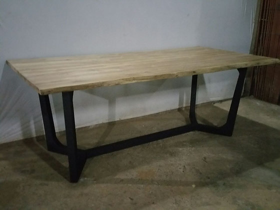 Y Steel Leg Dining Table
