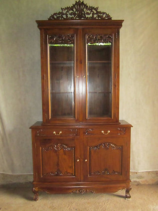 Carved 4 Door Cabinet
