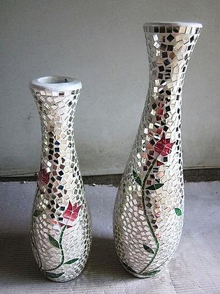 Rose Mosaic Vase