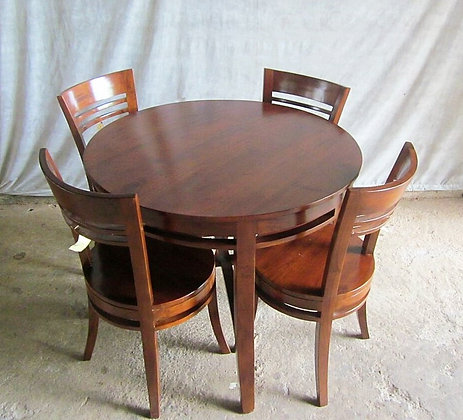 Round Japanese Dining Set