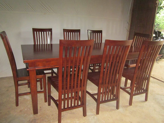 Tapered Teak Dining Set