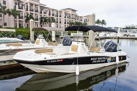 hybrid fishing boat rental Naples Florid