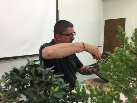 Bob Pressler with Repotting