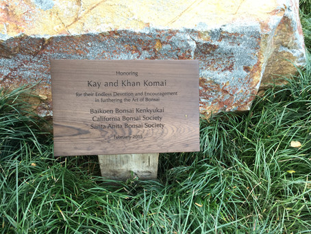 Dedication of the Komai Bench at the Huntington Library
