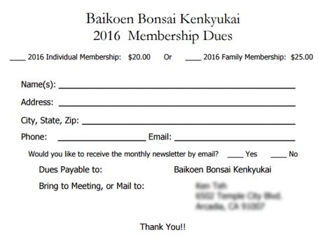 Membership Dues!