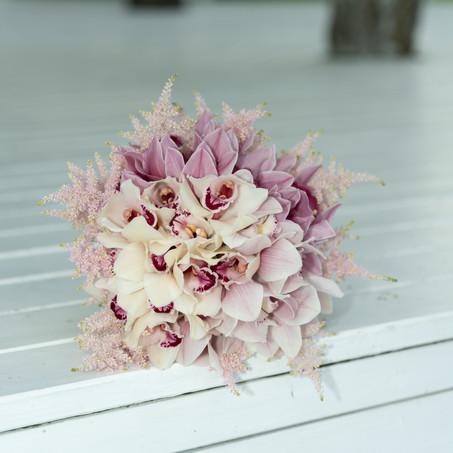 Svadobná kytica - Orchidea
