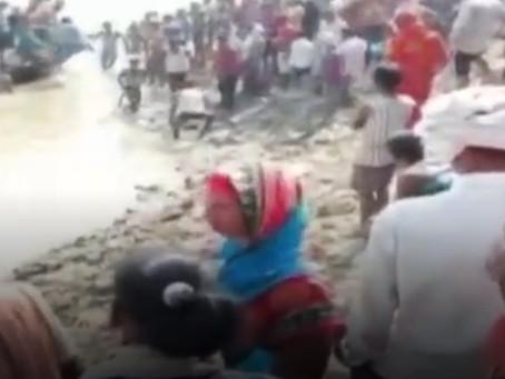बिहार: भागलपुर में गंगा में पलटी नाव, 100 से ज्यादा थे सवार, 5 की मौत