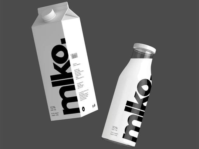 Mlko Logo & Packaging