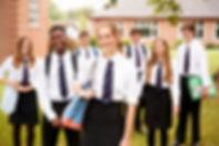 Portrait Of Teenage Students In Uniform