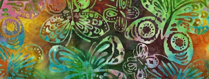 Batiks - Mariposas Verdes  - 18€/m