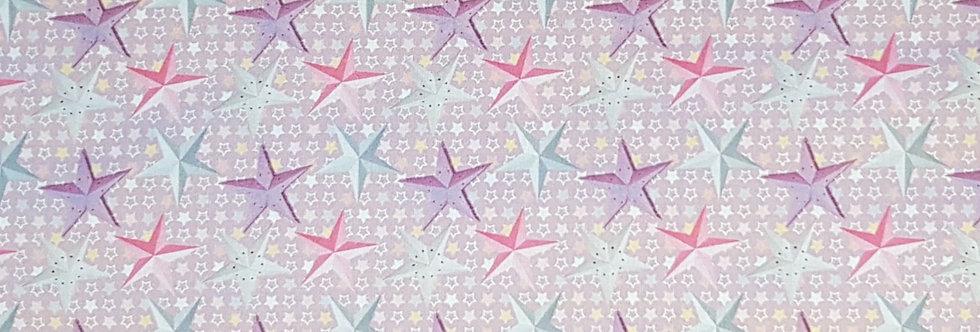 Le Quill Stof, estrellas rosas. 100% Algodon, 1,10Ancho 15€/m