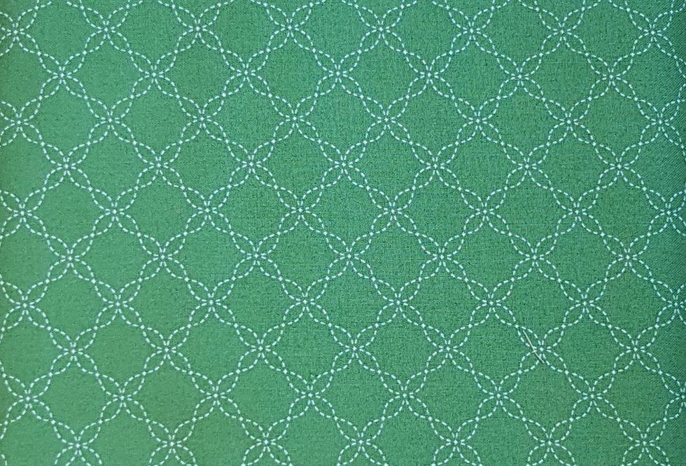 Kimberbell, Verde. 100% Algodon, 1,10 Ancho 15€/m